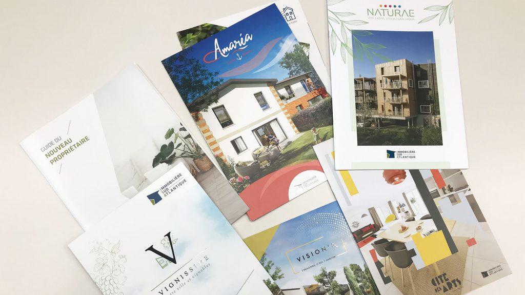 Plaquettes commerciales de résidences neuves